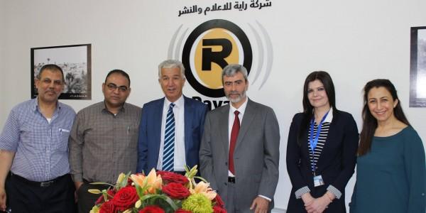 لقاء تعاوني بين مصلحة مياه محافظة القدس وشركة راية للإعلام والنشر