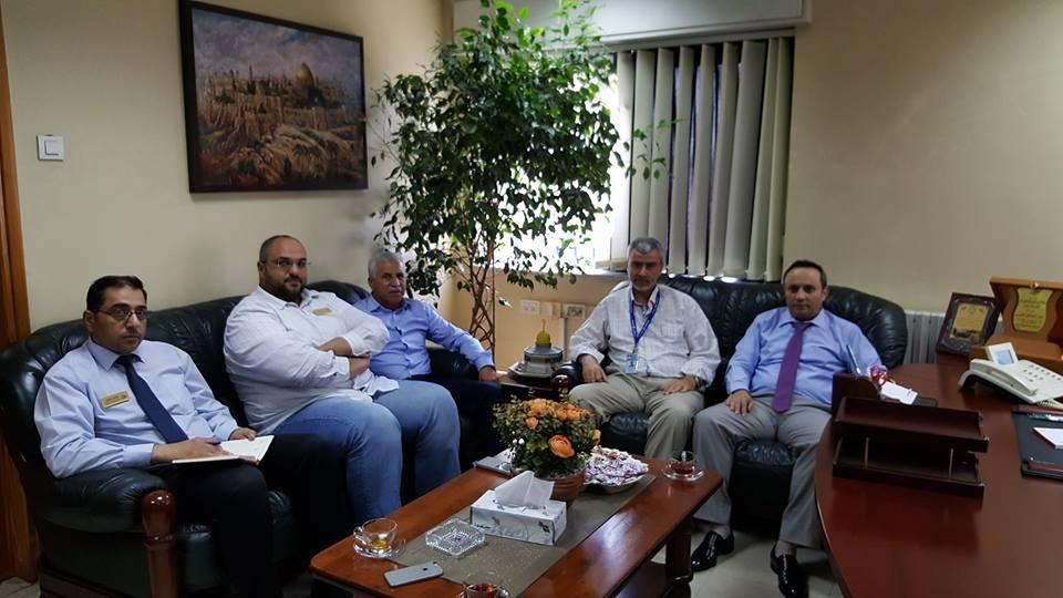 وفد من شركة كهرباء محافظة القدس-رام الله في زيارة تعاونية