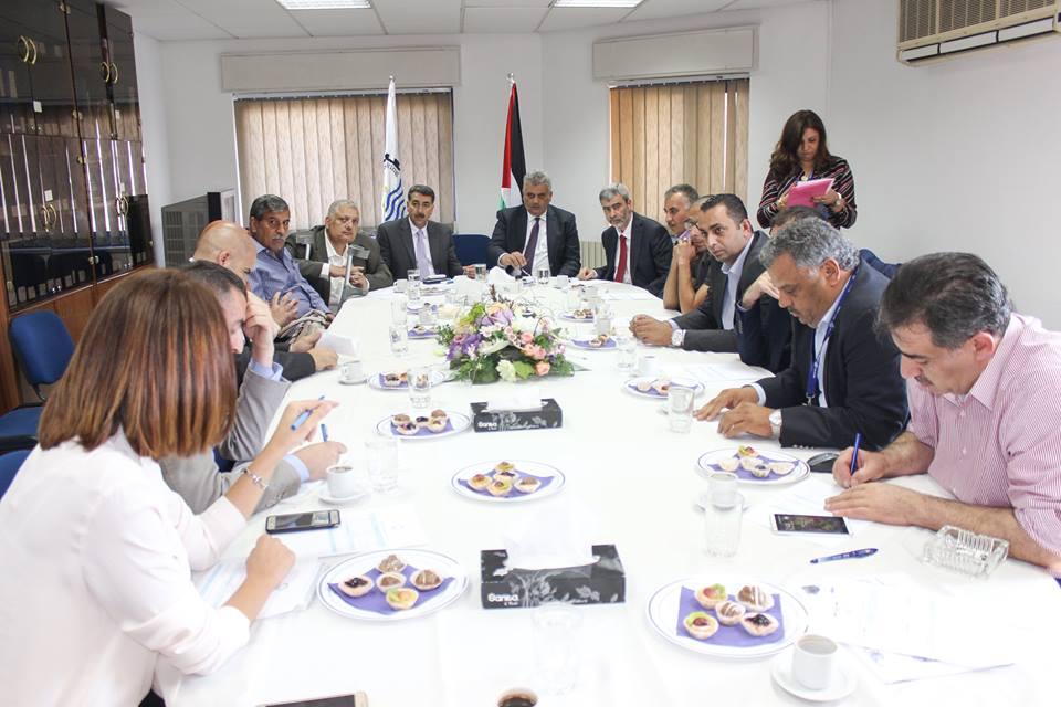 زيارة رئيس سلطة المياه الفلسطينية للمصلحة