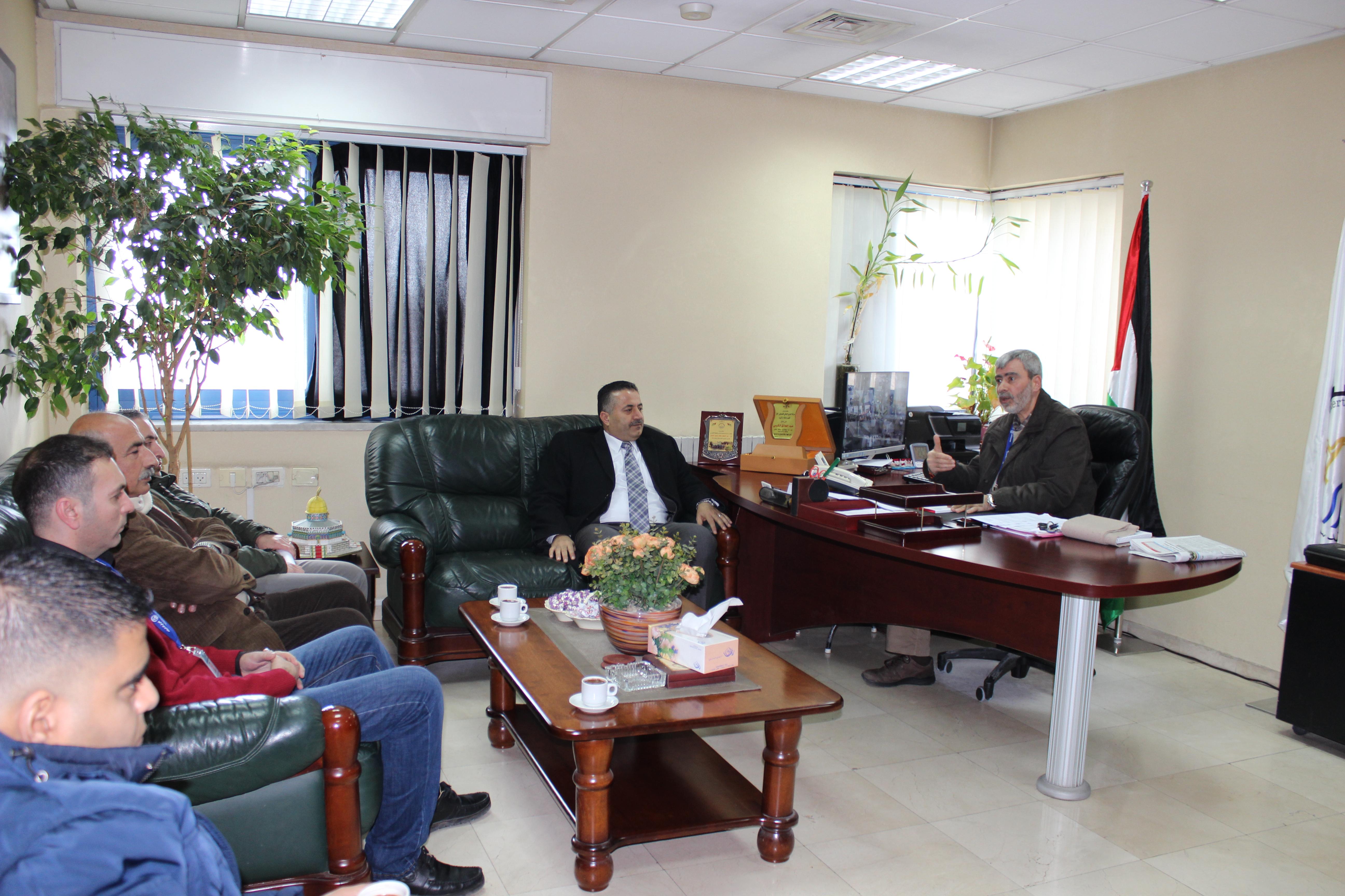مصلحة مياه محافظة القدس تستقبل بلدية بيتونيا