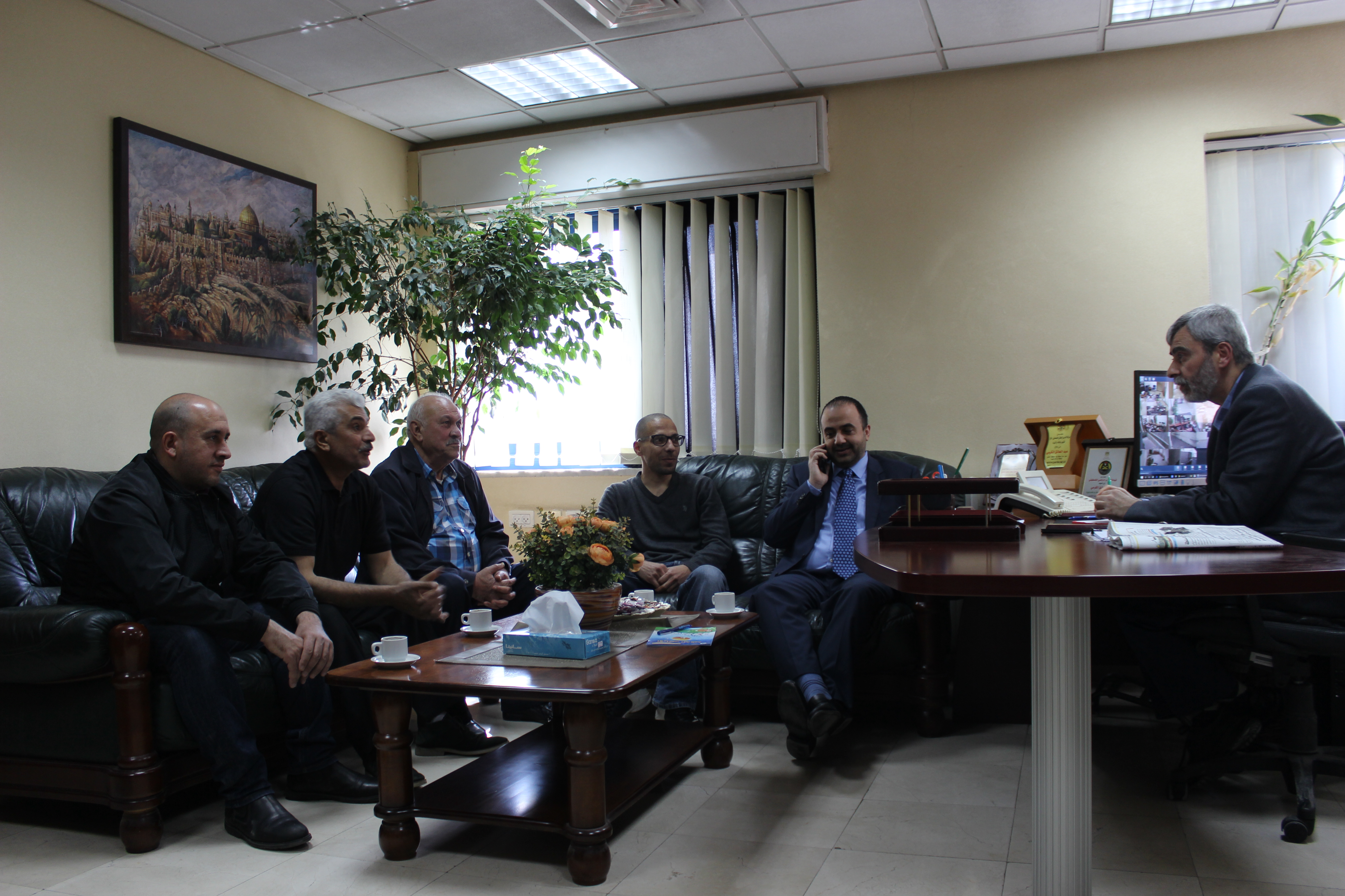 مصلحة مياه محافظة القدس تستقبل وفد من بلدية دير دبوان