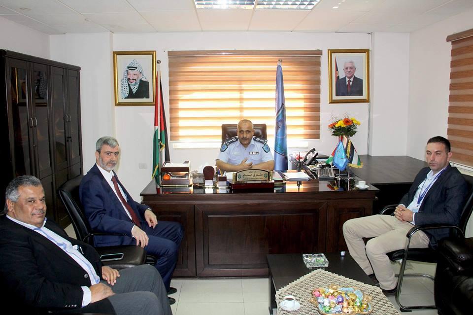 إدارة المصلحة تقدم التهنئة لمدير عام شرطة محافظة رام الله والببرة