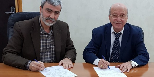 توقيع اتفاقية مع مكتب المحامي الاستاذ نبيل مشحور