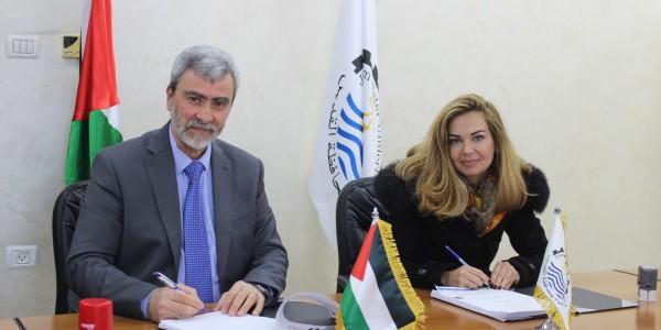 مصلحة مياه محافظة القدس توقع اتفاقية تقديم خدمات استشارية مع شركة مركز الهندسة والتخطيط (CEP)